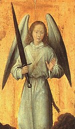 Hans Memling - The Archangel Michael - WGA14855.jpg
