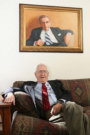 Harold Agnew - Harold Agnew at The Los Alamos Laboratory in 2006