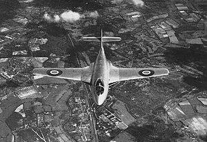 Hawker Sea Hawk - Forward view of a P.1040 prototype VP401, circa 1947-1948