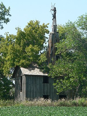 National Register of Historic Places listings in Jerauld County, South Dakota - Image: Hawkeye Valley Mill from ESE 1