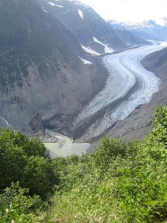 Salmon River (Portland Canal) braided stream that flows through Hyder, Alaska, and empties into the Portland Canal