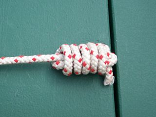 Heaving line knot Class of knot used to add weight to the end of a rope to make it easier to throw