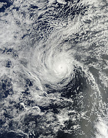 A visible satellite image of Hurricane Henriette at peak intensity on August 8.