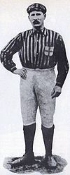 A black-and-white picture of Herbert Kilpin, the first captain of A.C. Milan