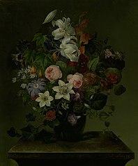 Blomsterbuket med snerle og efeu