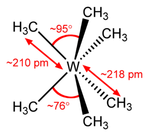 Hexamethyltungsten - Image: Hexamethyltungsten 2D dimensions