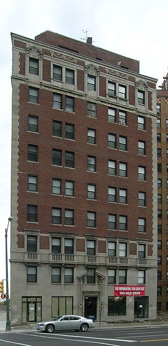 Hibbard Apartment Building - Image: Hibbard Apartment Building Detroit