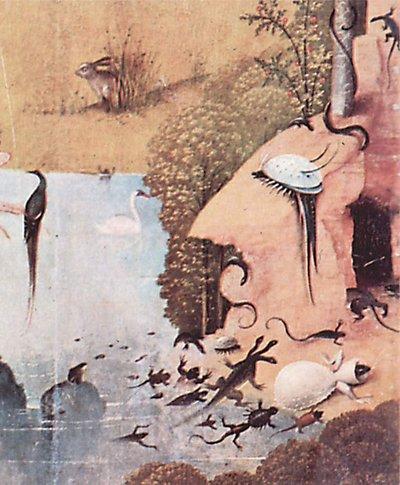 Créatures fantastiques ou monstres? (Le Jardin des délices (détail), Jérôme Bosch, 1504