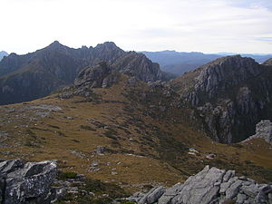 Arthur Range (Tasmania) - Image: High Moor from Mount Columba