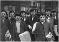 High school route boys. Adolescents. Some in back row have been newsboys for seven, eight, and nine years. New Haven... - NARA - 523172.tif