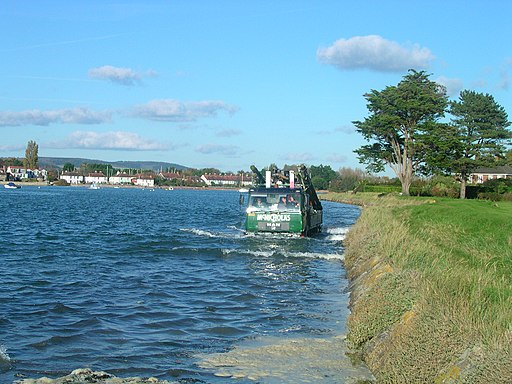 High tide on the harbour road