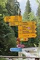 Hiking sign at Passerelle d'Aigue-Noire (44249970882).jpg