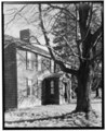 Historic American Buildings Survey, Arthur C. Haskell, Photographer. 1935. (d) Ext-Detail entrance front from Northwest. - Andrews House, 38 Walnut Street, Bridgewater, Plymouth HABS MASS,12-BRIG,1-4.tif