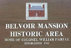 Historic Belvoir Mansion (sign).JPG