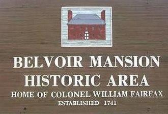 Belvoir (plantation) - Historic site located at Fort Belvoir
