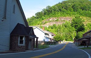 Holden, West Virginia - Trace Avenue in Holden