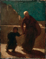Honoré Daumier - On a Bridge at Night - Google Art Project.jpg