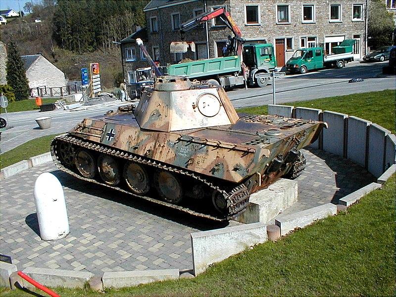 Char Panther V se trouvant à Houffalize