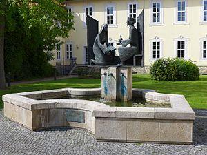 Hrotsvitha - Hrotsvitha fountain, Gandersheim