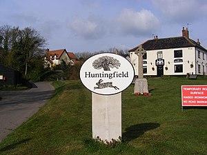Huntingfield, Suffolk - Image: Huntingfield Village Sign geograph.org.uk 1239637