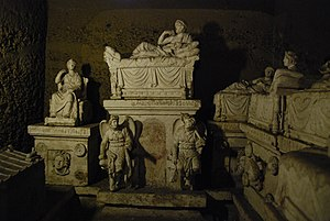 Hypogeum of the Volumnus family - Interior of the tomb