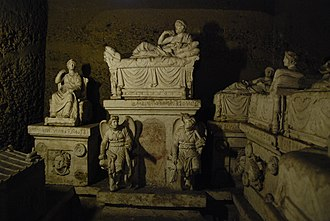 Hypogeum - Tablinum inside Hypogeum of the Volumni, in the northern end of the crypt