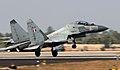 IAF Su-30MKI taking off at Aero India 2011.jpg