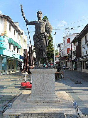 Antalya - Statue of Attalus II in the city