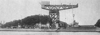 Japanese cruiser Tenryū - Image: IJN Tenryu in 1919 under construction