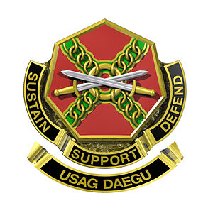 Camp Carroll, South Korea - Official crest of United States Army Garrison Daegu