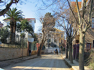 Princes' Islands - A street in Büyükada.
