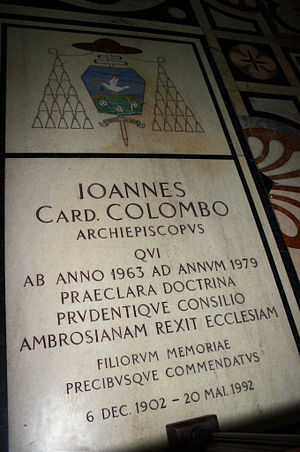Giovanni Colombo - Tomb of Giovanni Colombo.