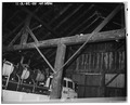 INTERIOR OF BARN FACING WEST. - Antonio Sala Ranch, Barn, 7300 Franktown Road, Washoe City, Washoe County, NV HABS NEV,16-WAVA,1A-11.tif