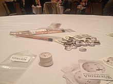 Wikipedia Swag at IA Summit 2016 Game Night