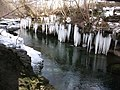Icicles and the River Kent - geograph.org.uk - 1656633.jpg
