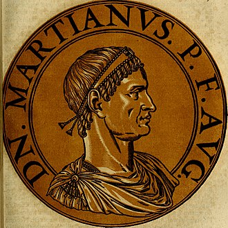 Marcian - Illustration of Marcian, based upon coins bearing his image.