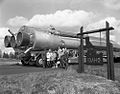 Idaho Indians greeting the Atlas 31E Missile at the Idaho State Line; Missile shown on move to 567-3 E. Date- 04-17-1961 (21637408421).jpg