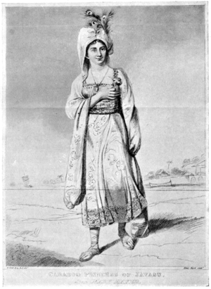 Princess Caraboo - Image: Illustration facing page 36, Devonshire Characters and Strange Events