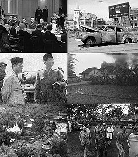 Indonesian National Revolution 1945–1949 Indonesian conflict and diplomatic struggle against Dutch rule