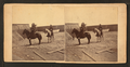 Inside Fort Rogers, (showing men on horseback), from Robert N. Dennis collection of stereoscopic views.png