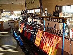 Yeovil Junction railway station - Inside the signal box