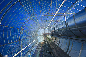 Parabolic trough - Inside an enclosed trough system