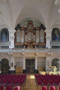 Interieur, aanzicht westgevel met orgel, orgelnummer 76 - Amsterdam - 20369255 - RCE.jpg