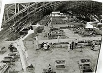 Interior view of GMH Allison Overhaul Assembly Plant igloo located on Sandgate Road Albion Brisbane during World War Two.jpg