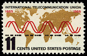 International Telecommunication Union - International Telecommunication Union – 100th anniversary. U.S. stamp, 1965.