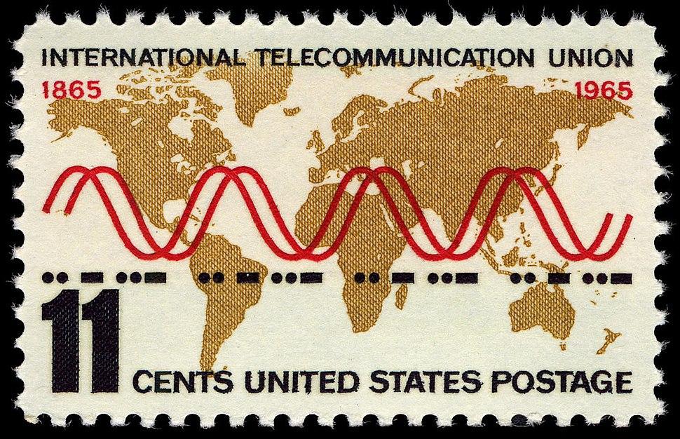 International Telecommunication Union 11c 1965 issue U.S. stamp