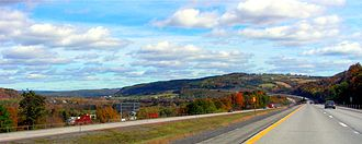 Interstate 88 (New York) - Eastbound on I-88 in Schoharie County