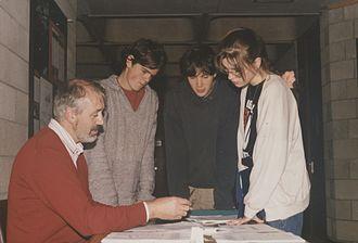 Cillian Murphy - Murphy (centre), with Dr. Tim Smyth, Eoin Ó Súilleabháin and Maria-Theresa Grandfield, circa 1992