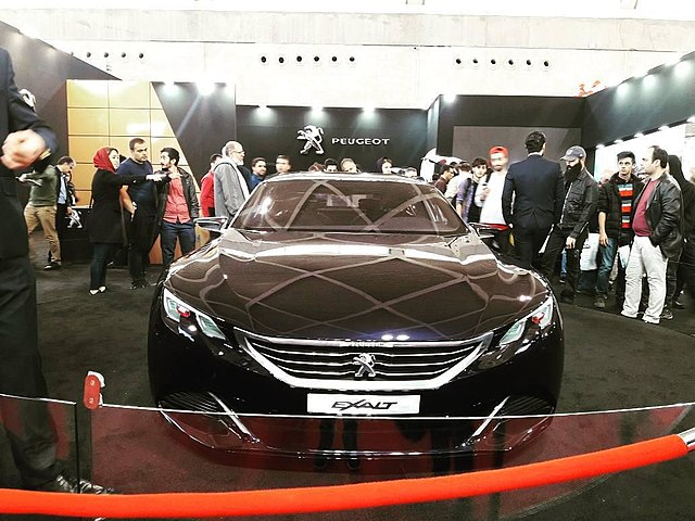 Peugeot car at the Tehran Auto Show