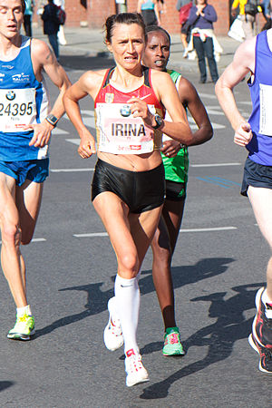 Irina Mikitenko - Mikitenko during Berlin Marathon 2011